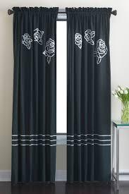 Double Panel Curtains Dkny Modern Rose Window Curtain Panel Donnakaranhome Com
