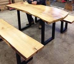 live edge computer desk live edge asco manufacturing computer office and classroom