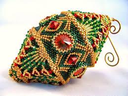 amazing beadwoven christmas ornaments by christine heidema beads