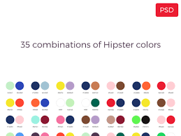 colors combinations 35 combination of hipster colors by jordi manuel dribbble