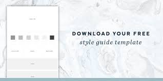 creating a style guide for your brand u2014 freckled design studio
