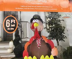 gemmy airblown thanksgiving inflatables turkey pilgrim hat 6