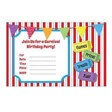 carnival party themed invitations discount invitations unique