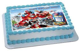 transformer cake toppers transformers rescue edible birthday cake topper