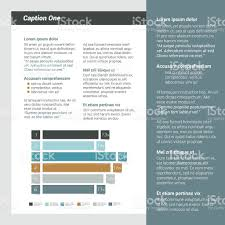 booklet page magazine layout for infographics web template stock