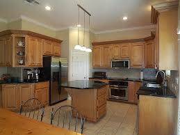 impressive light brown kitchen cabinets on house decor plan with