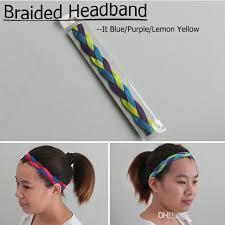 soccer headbands 2018 softball running sports braided headbands sweat silicone non
