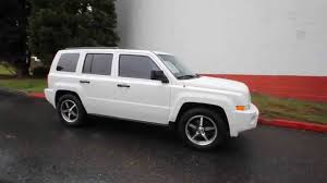 jeep patriot reviews 2009 2009 jeep patriot sport white 9d219660 redmond seattle