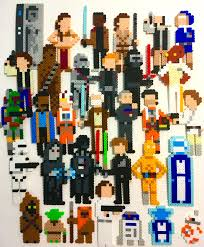 bunch star wars characters perler beads starwars