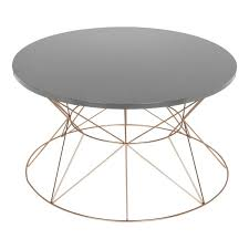 Overstock Round Coffee Table - kate and laurel mendel rose gold finished metal round coffee table