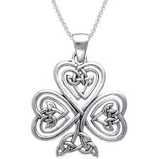 faith necklace sterling silver shamrock of faith necklace free shipping today