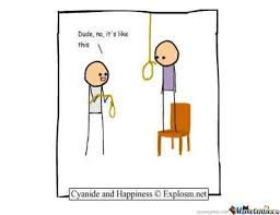 Tie Meme - dude you can t even tie a noose right by cyanide happiness
