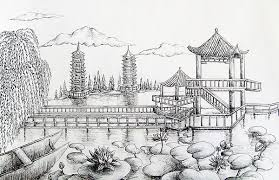 natural scenery in china drawing by boya l