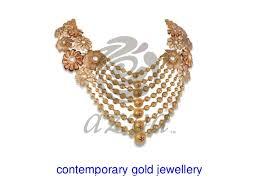 contemporary gold jewellery design