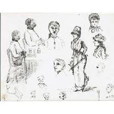 mildred anne butler 1858 1941 pen caricature sketches of