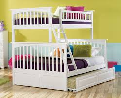 amazon com columbia bunk bed with trundle bed twin over full