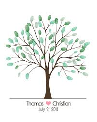 baby shower thumbprint tree template wedding tree pinterest