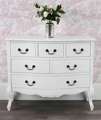 juliette shabby chic antique white 6 drawer chest fully assembled
