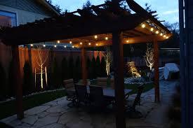 edmonds landscape lighting and café lighting create a stunning