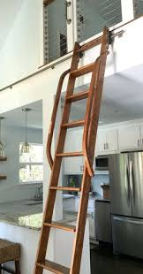 Bookcase Ladder Hardware Bookcase Stainless Steel Rolling Library Ladders Bookshelves