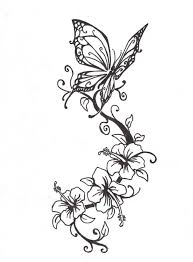 pictures of flowers and butterflies tattoos fantastic