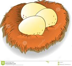 eggs in nest clipart clipartxtras