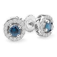 blue diamond stud earrings blue diamond stud earrings bijoux majesty