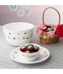 Buy Corelle Dinner Set Online India Corelle 30 Pcs Dinner Set Livingware Floral Fantasy 30 Pcs Dinner