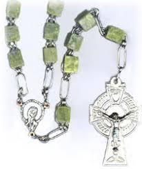 connemara marble rosary connemara marble rosary mater dei imports