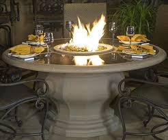 Patio Table With Built In Heater 52 Best Fire Pit Dining Table Images On Pinterest Dining Tables