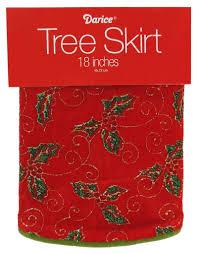 darice mini tree skirt 18d inch leaves green