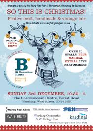 so this is christmas festive craft fair in aid of st barnabas on