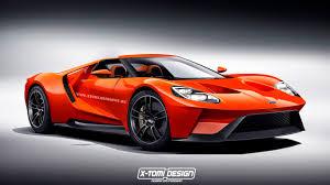 orange cars 2016 ford u0027s 2016 gt gets orange paintjob and targa roof in new render