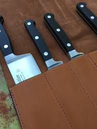 case kitchen knives knives knives case leather brown storage