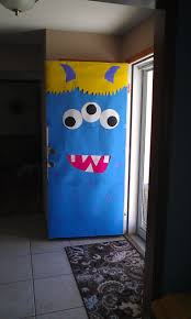 Halloween Decorating Doors Ideas Best 25 Monster Door Decoration Ideas On Pinterest Monster Door