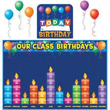 birthday board birthday graph bulletin board display set tcr5335