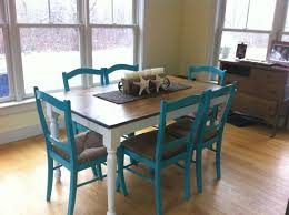 refinish dining room table with beach theme the table used to be