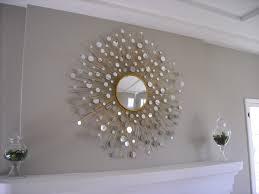 bedroom mesmerizing wall art wood mirror sunburst diy home