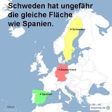 fl che deutschland schweden hat ungefähr die gleiche fläche wie spanien