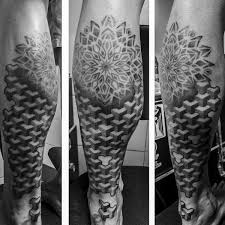 80 fractal tattoo designs for men repeating geometry ink ideas
