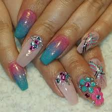 somethings about nail art rhinestone 28 pretty bling acrylic nail art designs ideas design trends