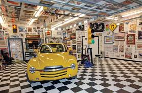 porsche garage decor decor garage decor ideas using cool wall decor and floor for