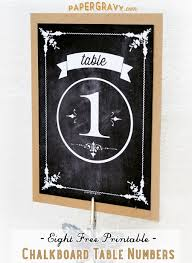 table numbers with pictures free printable chalkboard table numbers the graphics fairy