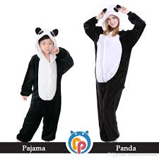 sale family pajamas hooded flannel panda onesie warm soft