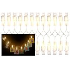 string lights with clips katia 2 meter led string lights with 20 photo clips using aa