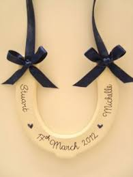 horseshoe wedding gift bridal wedding real lucky horseshoe luck gift with guardian