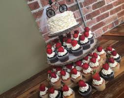wedding cupcake tower rustic wedding cupcake stand log slices 3 tier