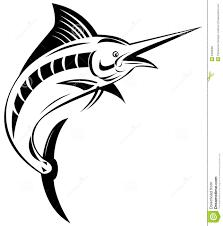 blue marlin stock vector illustration of background bill 5328588