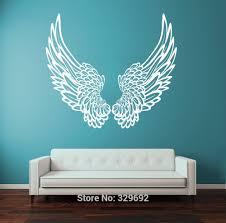 online get cheap angel wall decals aliexpress com alibaba group free shipping wall vinyl sticker wall decal big wings angel god guardian bird kids children home decor decoration wall art tx212