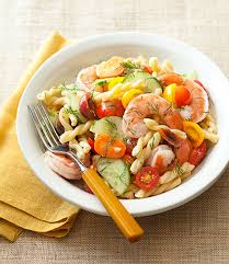 shrimp lemon gemelli pasta salad recipe